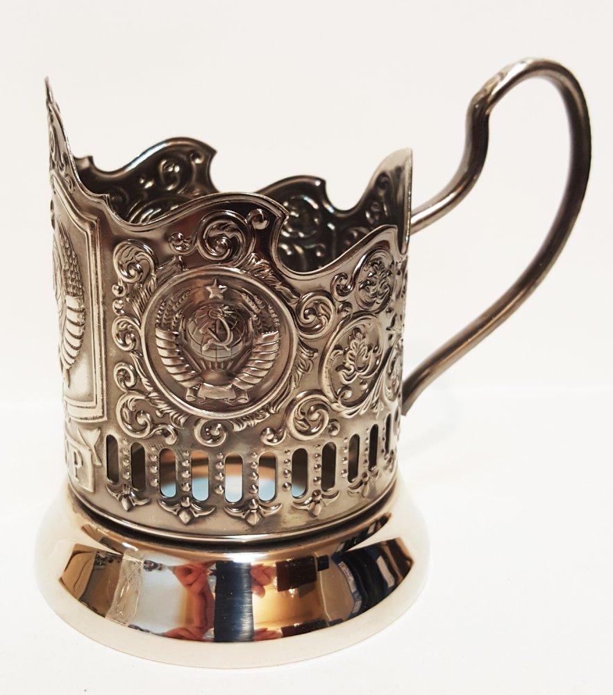 Cup holder Soviet Union, Nickel plated