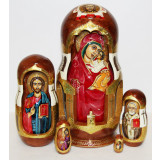 Nesting doll 10 pcs. Religion carved