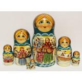 Nesting doll Sergiev-Posad 7 pcs. Fairy Tales