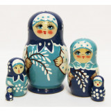 Nesting doll Sergiev-Posad 5 pcs. Willow small