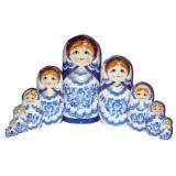 Nesting doll 30 pcs. Gzhel