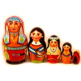 Nesting doll Sergiev-Posad 5 pcs. Native
