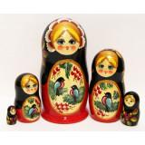 Nesting doll Sergiev-Posad 5 pcs. Bullfinches