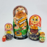 Nesting doll Sergiev-Posad 5 pcs. Old man with a log