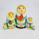 Nesting doll Sergiev-Posad 5 pcs. Girl with a squirrel