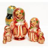 Nesting doll Sergiev-Posad 5 pcs. Rose