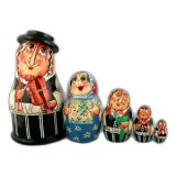Nesting doll Sergiev-Posad 5 pcs. Jewish family