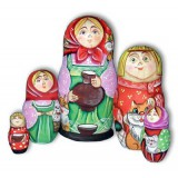 Nesting doll Sergiev-Posad 5 pcs. with a jug