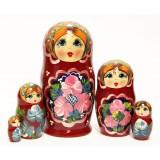 Nesting doll Sergiev-Posad 5 pcs. flowers70