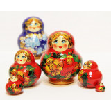 Nesting doll Sergiev-Posad 5 pcs. MNA red