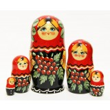 Nesting doll Sergiev-Posad 5 pcs. Mountain ash
