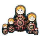 Nesting doll Sergiev-Posad 5 pcs. Khohloma