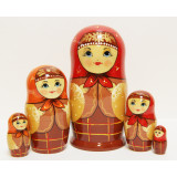 Nesting doll Sergiev-Posad 5 pcs. The Scottish cell