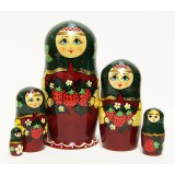 Nesting doll Sergiev-Posad 5 pcs. Strawberry