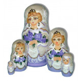 Nesting doll Sergiev-Posad 5 pcs. Bouquet of flowers