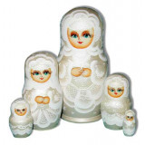 Nesting doll Sergiev-Posad 5 pcs. The bride