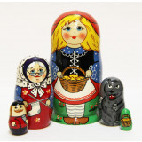 Nesting doll Sergiev-Posad 5 pcs. Red Cap