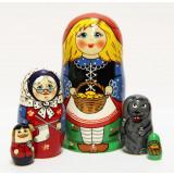 Nesting doll Sergiev-Posad 5 pcs. Red Cap