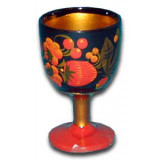 Khokhloma gift Small liquor glass