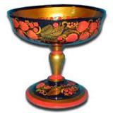 Khokhloma gift Vase for fruits