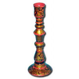 Khokhloma gift Candlestick high
