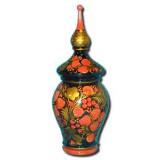 Khokhloma gift Vase for nuts