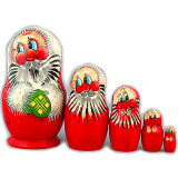 New Year and Christmas matrioshka matrioshka 5 pcs. Santa Claus small