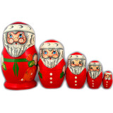 New Year and Christmas matrioshka matrioshka 5 pcs. Santa Claus60
