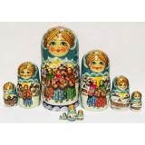 Nesting doll Sergiev-Posad 10 pcs. Fairy Tale