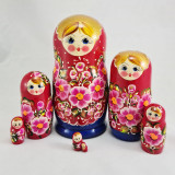 Nesting doll 7 pcs. Motley flowers