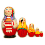 Nesting doll 5 pcs. Pie