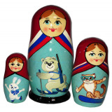 Nesting doll 3 pcs. The Olympic Games of Sochi 2014 (13 cm.)