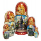 Nesting doll 5 pcs. Super cathedrals