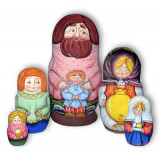 Nesting doll Sergiev-Posad 5 pcs. grandfather with the boy