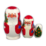 New Year and Christmas matrioshka nesting doll 3 pcs...