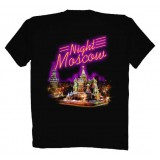 T-shirt XL Night Cathedral Moscow XL black