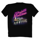 T-shirt M Night Moscow, M black