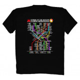 T-shirt M The Moscow Metro, M, black