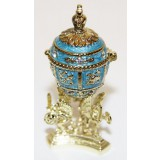 Copy Of Faberge easter egg, JD0495-3 Egg With a crown inside,...