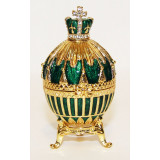 Copy Of Faberge 114-0223-3 easter egg, small, Royal, green with a...