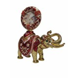 Copy Of Faberge JD0026-9 easter egg elephant with portrait red