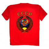 T-shirt L Arms of USSA L red