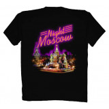 T-shirt L Night Cathedral Moscow L black