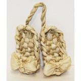 birch bark products traditional russian sandals Bast shoes souvenir