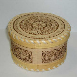 birch bark products box Round average