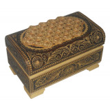 birch bark products box Chest the small cut 10 x 6 x 6 cm