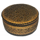 birch bark products box Round, diameter - 11.5 cm. height - 5 cm.