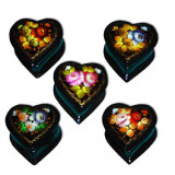Lacquer Box Heart Jostovo flowers
