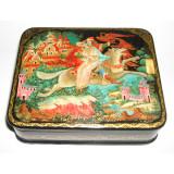Lacquer Box Palekh Russian fairy tale 12h10h4 cm.