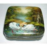 Lacquer Box Fedoskino Landscape summer in assortment